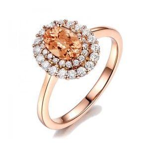 Rose Gold Filled Crytine Gemstone Ring  New
